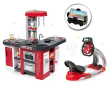 Set kuchyňka pro děti Tefal Studio XXL Smoby s magickým bubláním a elektronický trenažér V8 Driver
