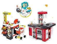 Set detská kuchynka Tefal Studio XXL Smoby s magickým bublaním a elektronický obchod Supermarket