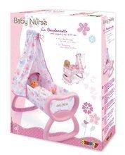 Postieľky a kolísky pre bábiky - Kolíska Baby Nurse Smoby s baldachýnom pre 52 cm bábiku od 18 mes_1