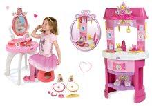 Set bucătărie Disney Prinţese Smoby cu ceas şi masă de machiaj cu scaun