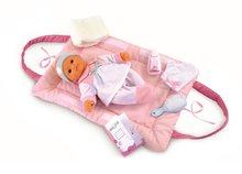 Pelenkázó alátét Baby Nurse Smoby 42 cm játékbabának pelenkázó szettel világos rózsaszín