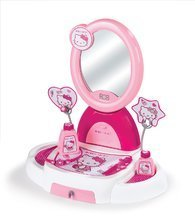 Detský kozmetický stolík Hello Kitty Smoby s otváracou zásuvkou a 5 doplnkami tmavoružový
