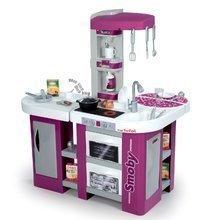 Bucătărie Studio XL Tefal Smoby electronică, cu efecte sonorice, cu aparat de sifon, cu frigider şi cu 32 de accesorii, mov