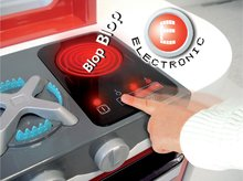 Elektronické kuchyňky - Kuchyňka Loft 4v1 Smoby elektronická se zvuky, s vysouvací pracovní plochou a 25 doplňky stříbrná_1