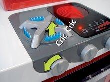 Elektronické kuchyňky - Kuchyňka Loft 4v1 Smoby elektronická se zvuky, s vysouvací pracovní plochou a 25 doplňky stříbrná_2