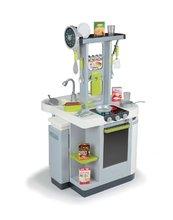 Elektronické kuchyňky - Kuchyňka Loft 4v1 Smoby elektronická se zvuky, s vysouvací pracovní plochou a 25 doplňky stříbrná_6