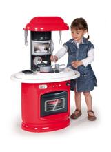 Kuchynka pre deti Berchet My Kitchen Smoby obojstranná s 21 doplnkami červeno-biela