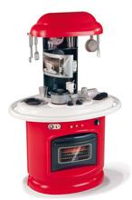 Obyčejné kuchyňky - Kuchyňka Berchet My Kitchen Smoby oboustranná s 21 doplňky červeno-bílá_0