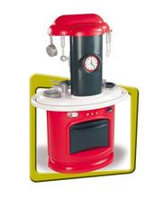 Obyčejné kuchyňky - Kuchyňka Berchet My Kitchen Smoby oboustranná s 21 doplňky červeno-bílá_1