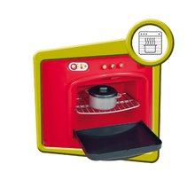 Obyčejné kuchyňky - Kuchyňka Berchet My Kitchen Smoby oboustranná s 21 doplňky červeno-bílá_4