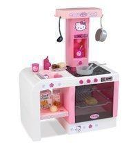 Kuchynky pre deti sety - Set kuchynka Hello Kitty Cheftronic Smoby so zvukmi, kočík bugina (53,5 cm rúčka) a jedálenská stolička pre bábiku_1