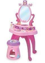 Măsuță de machiaj Prinţesele Disney 2 în 1 Smoby cu scăunel şi cu 10 accesorii