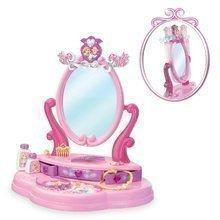 Kozmetické stolíky sety - Set kozmetický stolík Disney Princezné 2v1 Smoby so stoličkou a piknikový košík s doplnkami_1