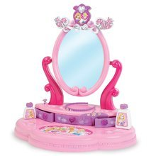 Masă de machiaj Disney Prinţese Smoby cu sertare care se pot deschide şi cu 5 accesorii