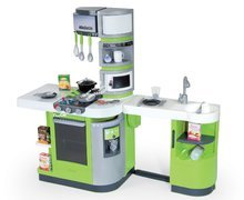 Bucătărie Cook Master Verte Smoby electronic, cu efecte sonorice și cu 33 de accesori, gri-verde