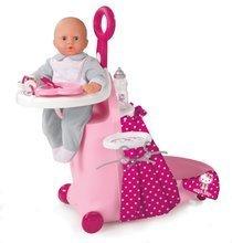 Opatrovateľský kufrík Hello Kitty Nursery Smoby pre bábiku od 18 mesiacov so 6 doplnkami tmavoružový
