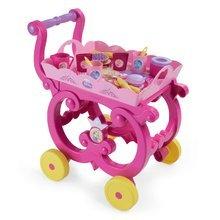 Dětská čajová souprava Princezny Smoby na servírovacím vozíku s 17 doplňky