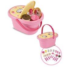 Accesorii și vase de bucătărie de jucărie - Coş de picnic Hello Kitty Smoby cu 24 de accesorii_2