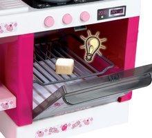 Elektronické kuchynky - Kuchynka Hello Kitty Cheftronic Smoby elektronická so zvukom, svetlom a 19 doplnkami tmavoružová_0
