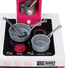 Elektronické kuchynky - Kuchynka Hello Kitty Cheftronic Smoby elektronická so zvukom, svetlom a 19 doplnkami tmavoružová_1