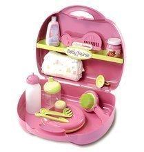 Bábiky s doplnkami sety - Set bábika Minikiss Smoby 27 cm, prebaľovací set v kufríku a kočík pre bábiku (53,5 cm rúčka) od 18 mes_3