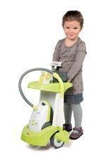 Dětský úklidový vozík Smoby Rowenta s elektronickým vysavačem a 3 doplňky zelený