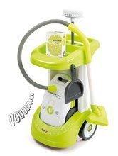 Hry na domácnost - Set úklidový vozík Rowenta Smoby s elektronickým vysavačem, žehlicí prkno, elektronická žehlička Clean_0