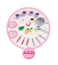 Egyszerű játékkonyhák - Játékkonyha Hello Kitty Mini Cuisine Smoby kofferban 20 kiegészítővel világos rózsaszín_1