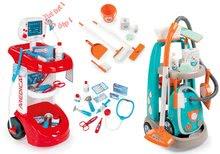 Set lekársky vozík Smoby s tlakomerom a upratovací vozík s elektronickým vysávačom