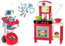 Set lekársky vozík Smoby s tlakomerom a kuchynka s pultom a doplnkami