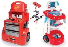 Set lekársky vozík Smoby s tlakomerom a pracovná dielňa vozík Autá Mack Truck