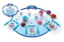 Riadíky a doplnky kuchynky - Piknikový košík Frozen Smoby s trblietkami s 24 doplnkami_1