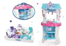 Kuchynky pre deti sety - Set kuchynka Frozen Smoby s trblietkami a čajová súprava Frozen na tácke_12