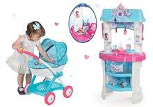 Set bucătărie de jucărie Frozen Smoby cu sclipici şi cărucior adânc pentru păpuşă