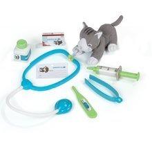 Cărucioare medicale pentru copii - Trusă medicală cu animal Smoby din pluş şi 8 accesorii_1