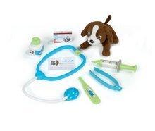 Cărucioare medicale pentru copii - Trusă medicală cu animal Smoby din pluş şi 8 accesorii_2