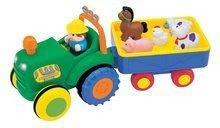 Tractor mic cu animale Activity Kiddieland cu efecte sonore şi de lumini de la 12 luni