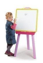 Tablă pentru învăţat și desenat 2in1 Smoby magnetică, cu două feţe, atârnabilă cu 7 bucăţi de accesorii roz-verde