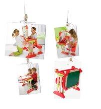 Školní lavice - Dřevěná školní lavice Activity 2v1 Smoby skládací s oboustrannou tabulí a 61 doplňky_1