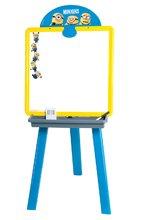 Detská tabuľa Mimoni 2v1 Smoby obojstranná s 18 doplnkami žlto-modrá