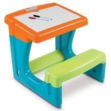 SMOBY 28077 Lavica s lavičkou a odkladacim priestorom na kreslenie a písanie, obojstranna, + 8 doplnkov, modra, 55*58*54 cm