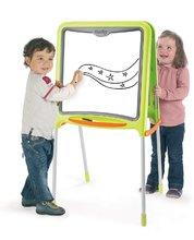 Tablă pentru învăţat și desenat Smoby magnetică, cu două feţe, cu structură metalică şi cu 59 de accesorii verde