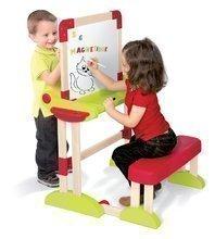 Školní lavice - Dřevěná školní lavice Activity 2v1 Smoby skládací s oboustrannou tabulí a 61 doplňky_5