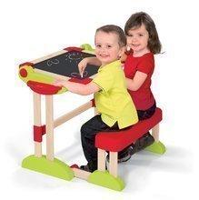 Školní lavice - Dřevěná školní lavice Activity 2v1 Smoby skládací s oboustrannou tabulí a 61 doplňky_4