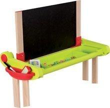 Školní lavice - Dřevěná školní lavice Activity 2v1 Smoby skládací s oboustrannou tabulí a 61 doplňky_0