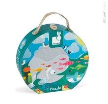 Janod 02858 puzzle v kufríku Oceán s rybami 24 dielov od 3-6 rokov