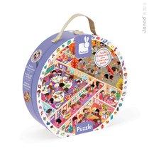 Janod 02797 okrúhle puzzle v kufríku Škola 208 dielov od 6-9 rokov