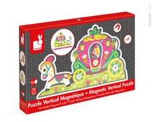 Drevené magnetické puzzle Princezné Vertical Janod od 18 mesiacov 8 dielov