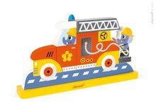 JANOD 08027 fa mágneses puzzle Vertical - Tűzoltó autó 8 db 18-36 hónapos kortól
