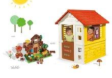 Smoby 810706-10 set domček Máša a medveď Pretty so zasúvacou okenicou a stavebnica PlayBig Bloxx Máša a medveď od 2 rokov